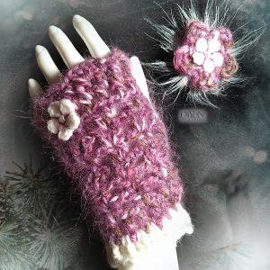Дамски плетени ръкавици с мохер