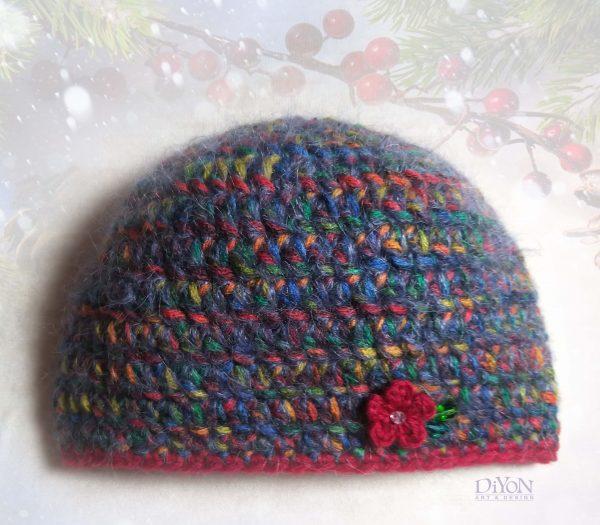 Луксозна плетена шапка с мохер