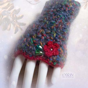Луксозни плетени ръкавици с мохер