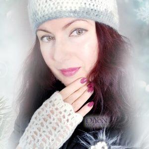 Плетени бели шапка и ръкавици от мохер