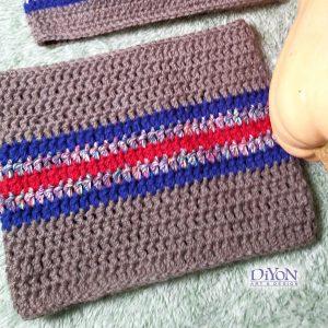 Плетен шал за мъже