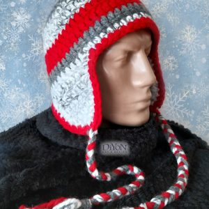 Плетена шапка тип ушапка за мъже