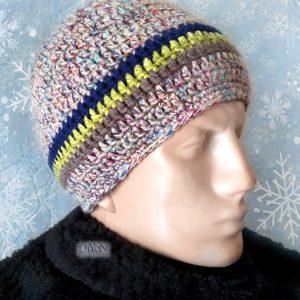 Плетена топла шапка за мъже