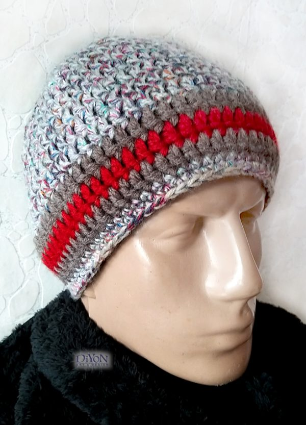Плетена зимна шапка за мъже