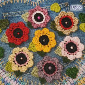 Дамски брошки с цвете и листа