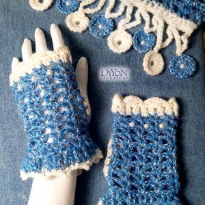 Дамски ръкавици на една кука с перли