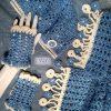 Дамски плетен комплект на една кука